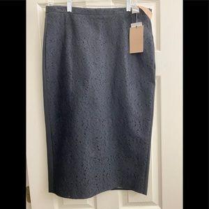 European designer no.21 black front lace skirt